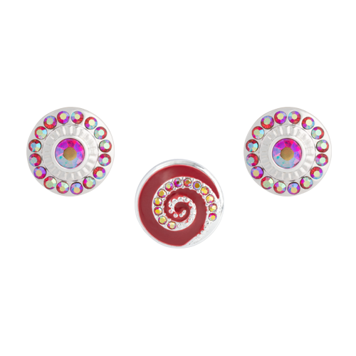 Red Whirl Dot Set